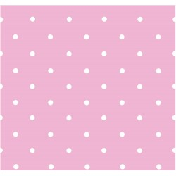 Papel Pintado Topos Rosa - 220-3806